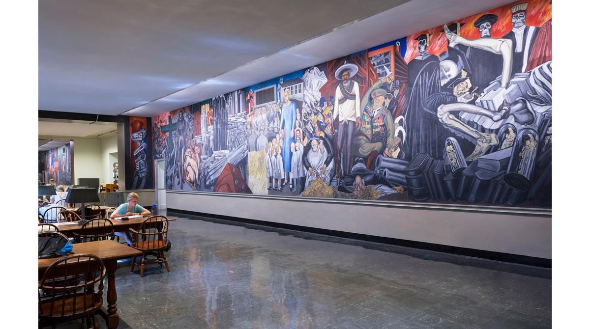 Orozco room at the baker library haynes garthwaite for Dartmouth mural