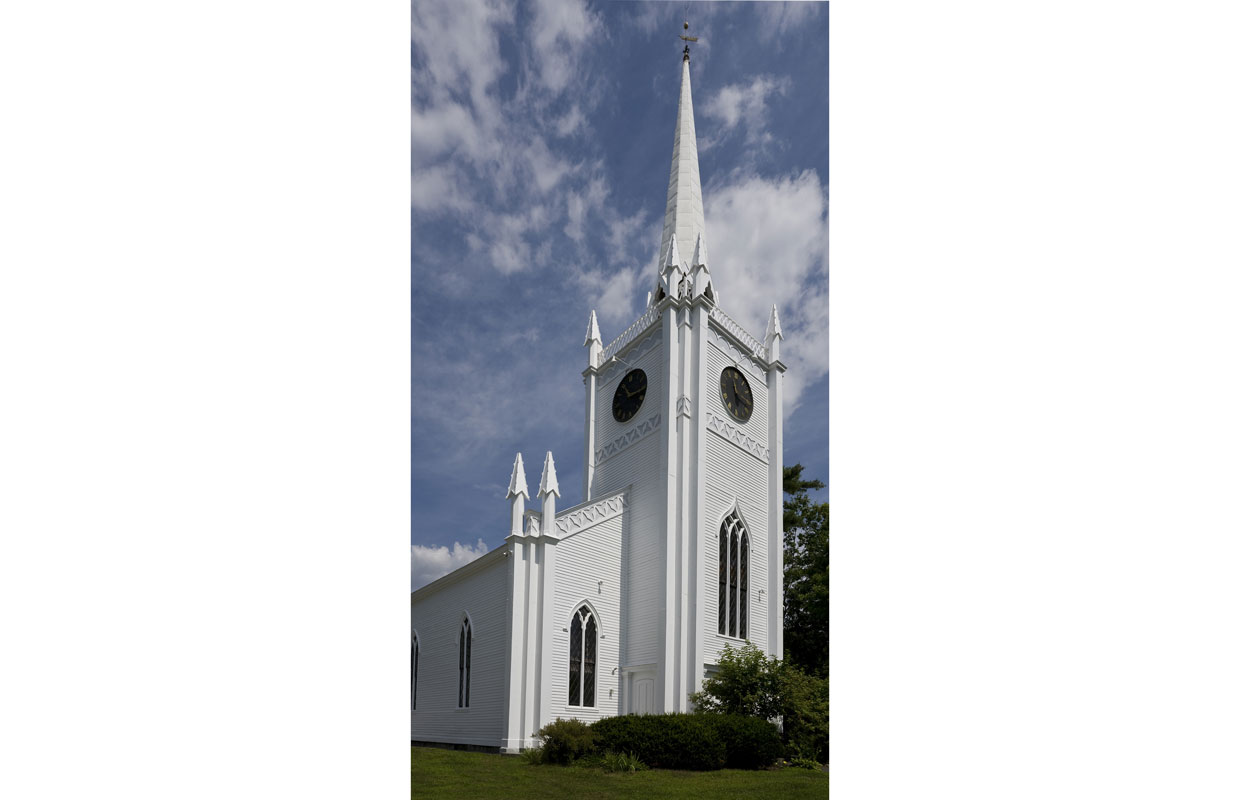 white church in orford, NH
