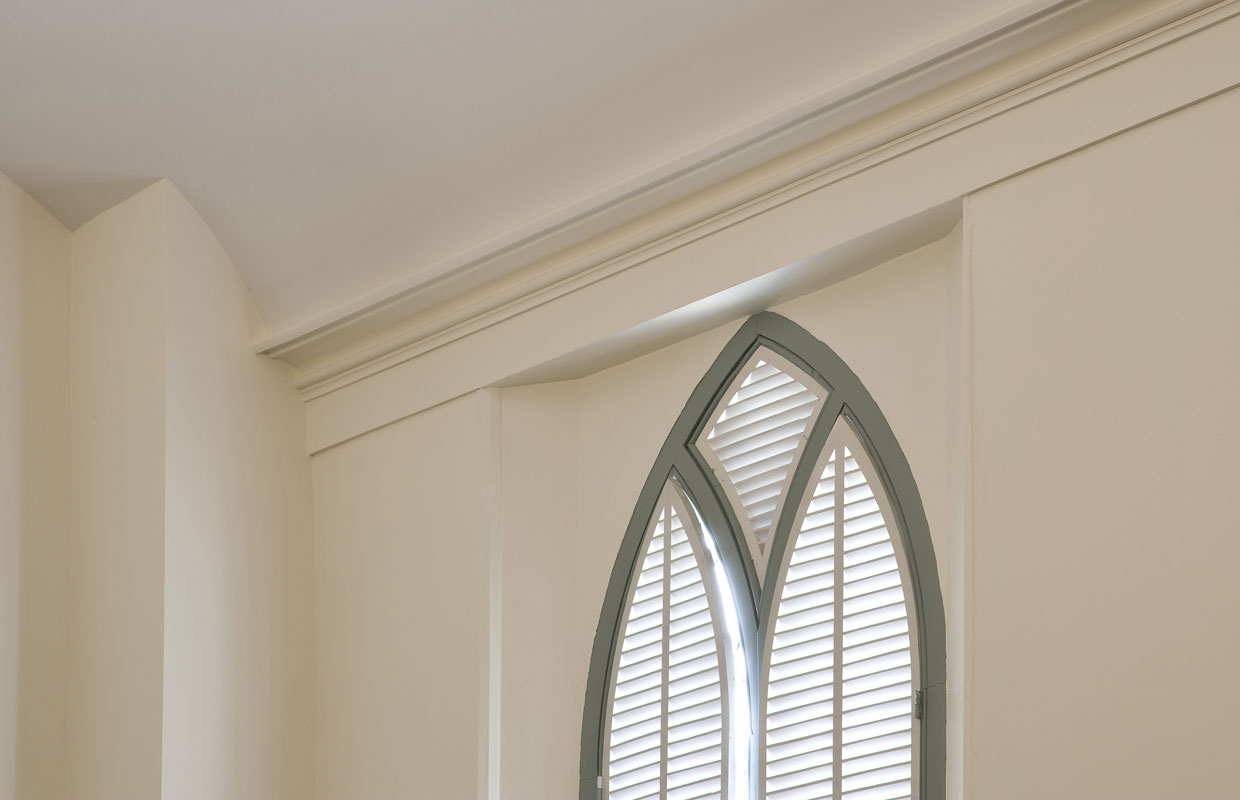 window detail with green trim