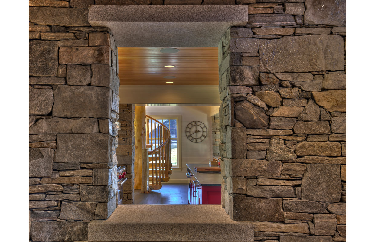 stone doorway in a home